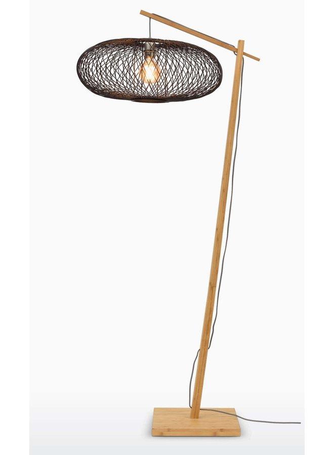 Vloerlamp Cango natural/black (H.176)