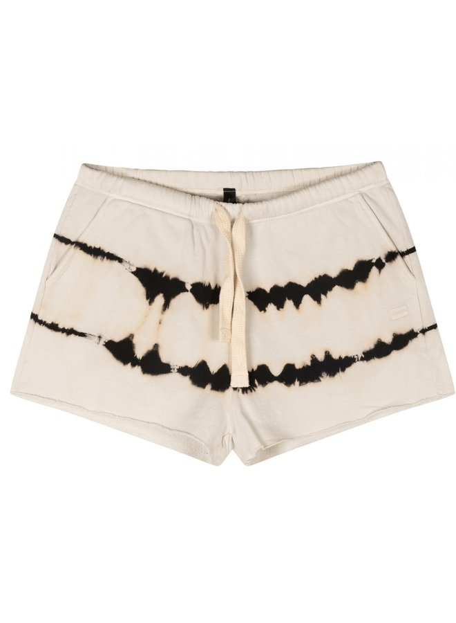 Broek shorts tie dye silver white
