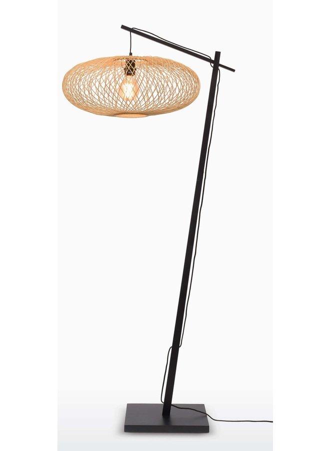 Vloerlamp Cango black/natural (H.176)