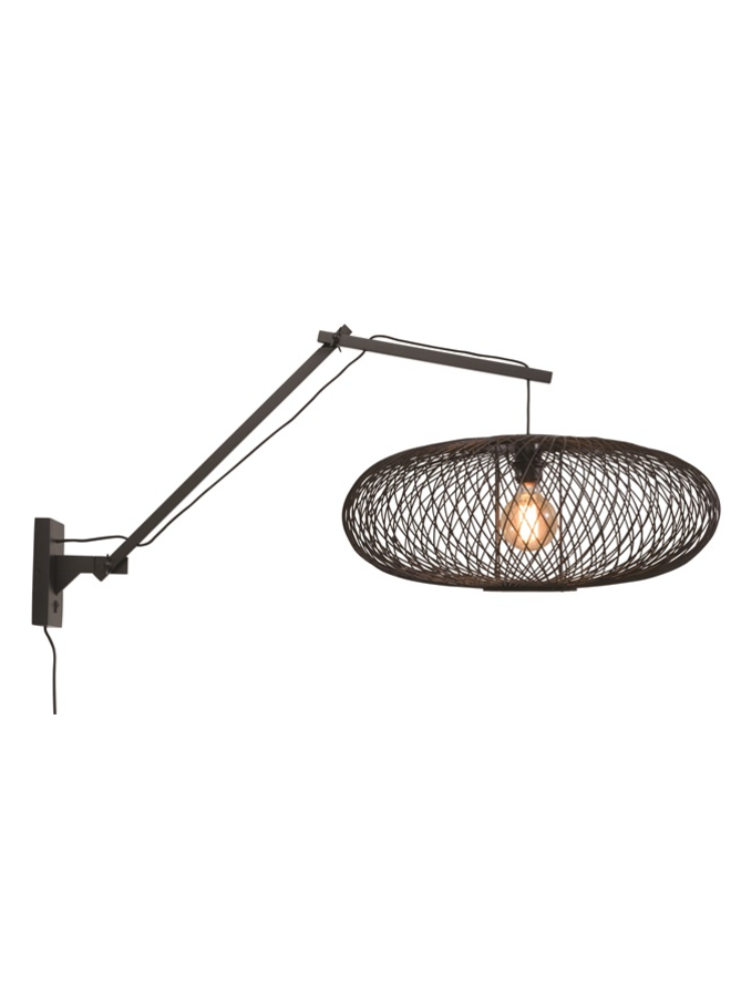 Wandlamp Cango black L