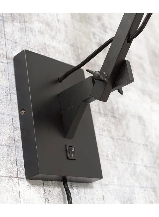 Wandlamp Cango black/naturel L