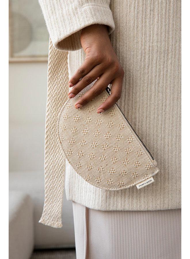 Portemonnee Mondo half moon wallet linen