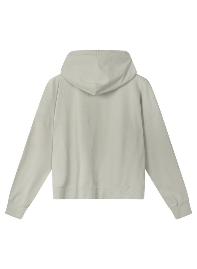 Trui Fitted hoodie pistache