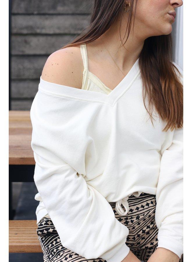 Top Crossback singlet linen light vanilia