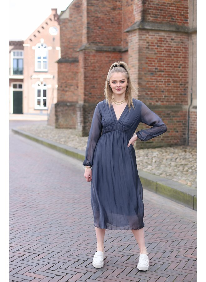 Jurk Eva maxi dress antracite