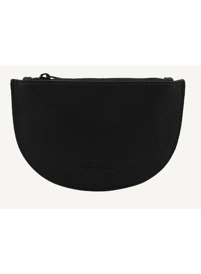 Portemonnee Mondo half moon wallet black
