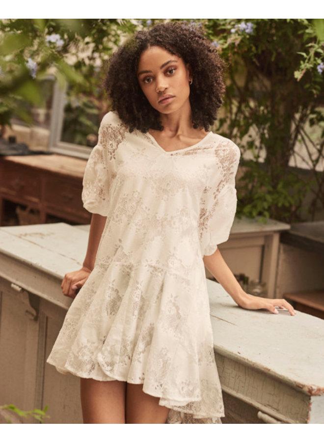 Jurk mini dress Dante off white