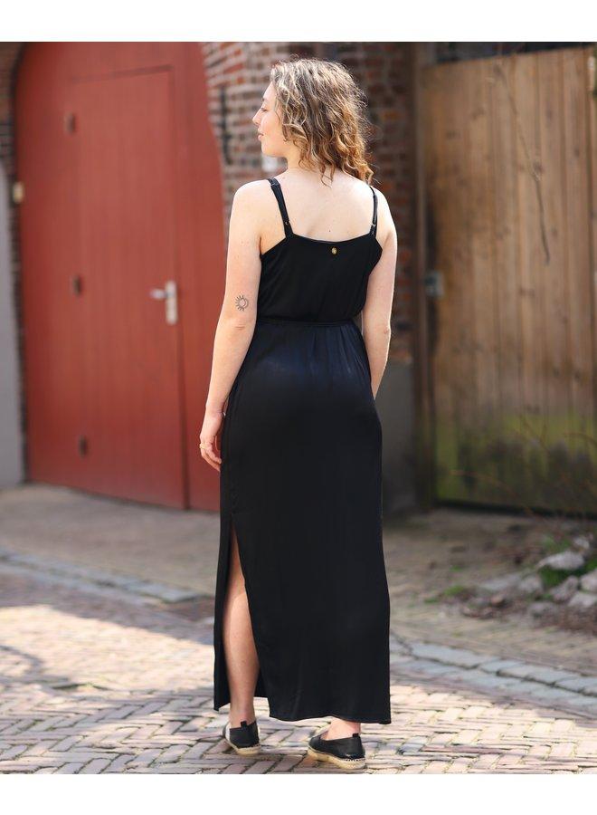Jurk maxi dress Chrissy black