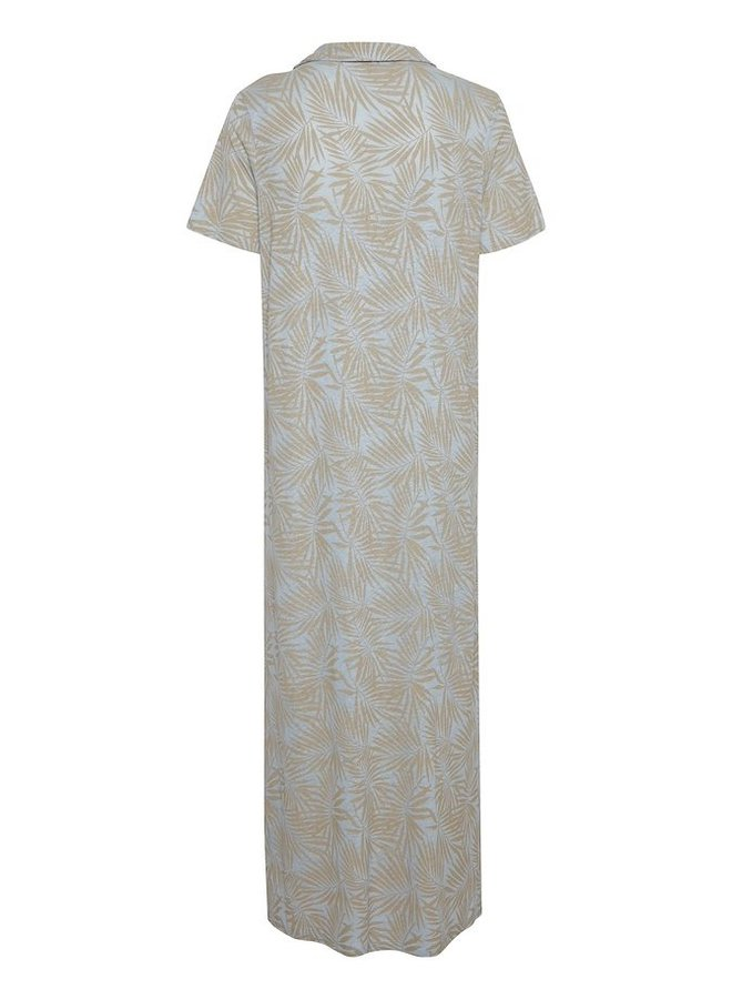 Jurk CRLuna jersey dress ev cashmere blue palms