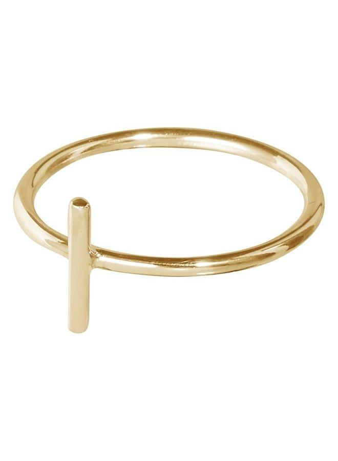 Ring Violet 18k gold plated