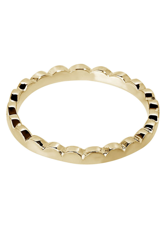 Ring Aicha 18k gold plated
