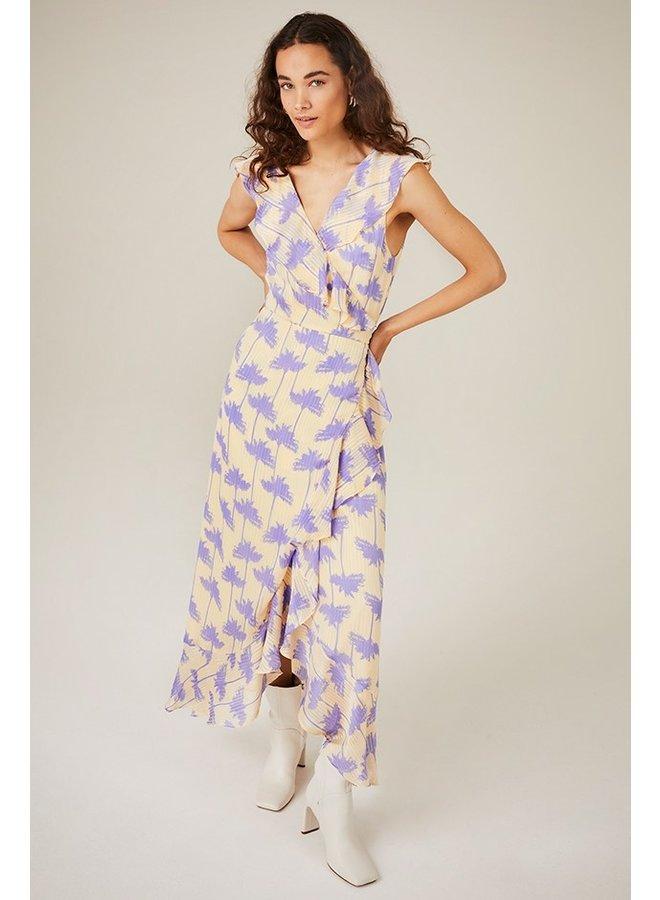 Jurk maxi dress Olga purple