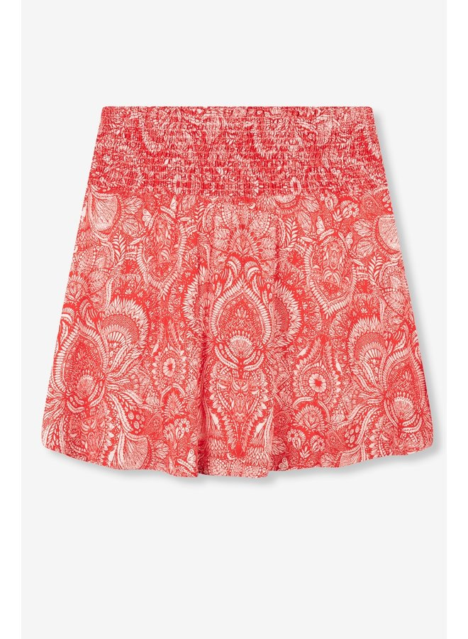 Rok Ladies woven refined line mini skort intense red