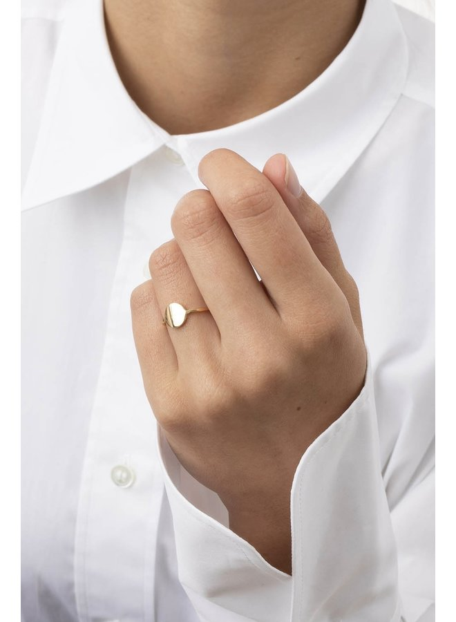 Ring Cane 18k gold plated