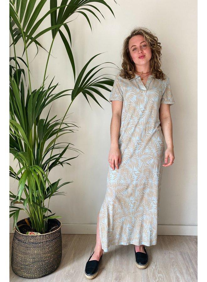 Jurk CRLuna jersey dress ev cashmere blue palms