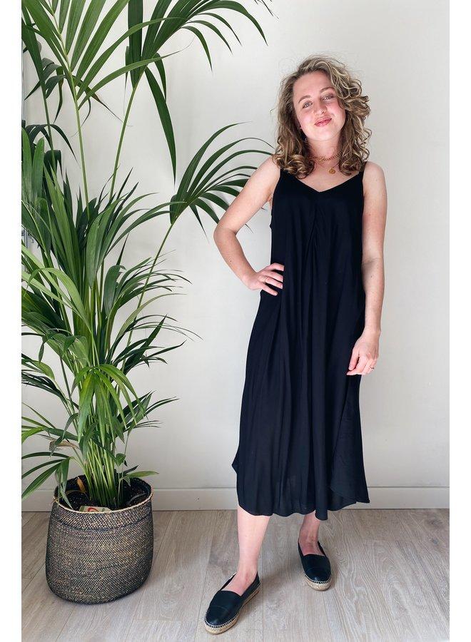 Jurk CRLine dress eco vero pitch black