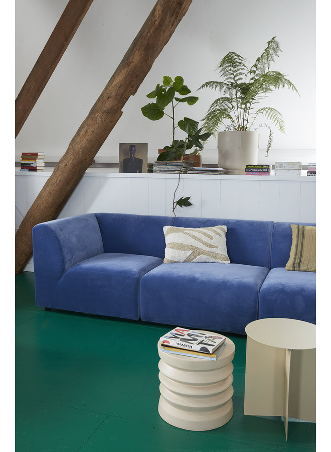 Bank jax couch: element left end, royal velvet, blue