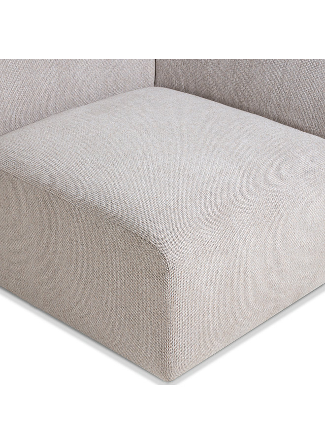 Bank jax couch: element right end, sneak, light grey