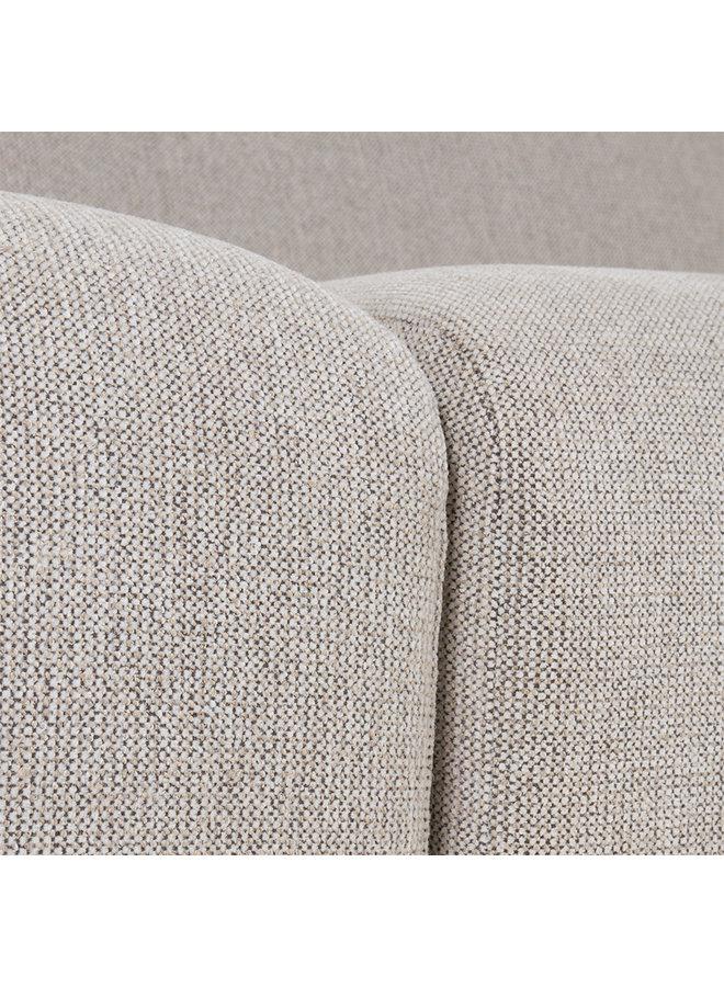 Bank jax couch: element left end, sneak, light grey