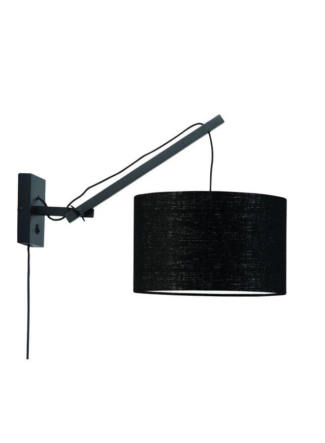 Wandlamp Andes 3220 ecolin S black, black
