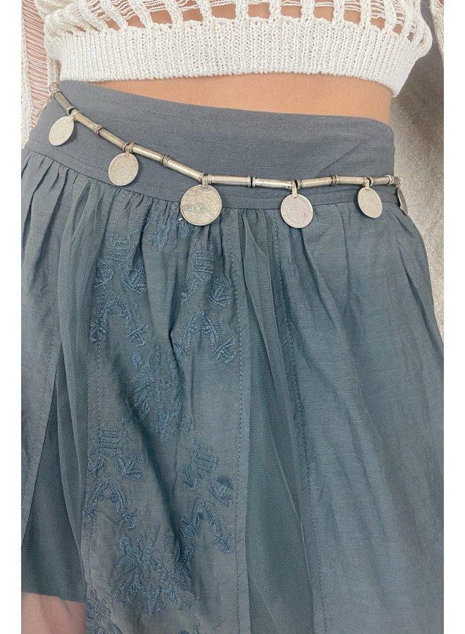 Riem Ava belt short necklace black