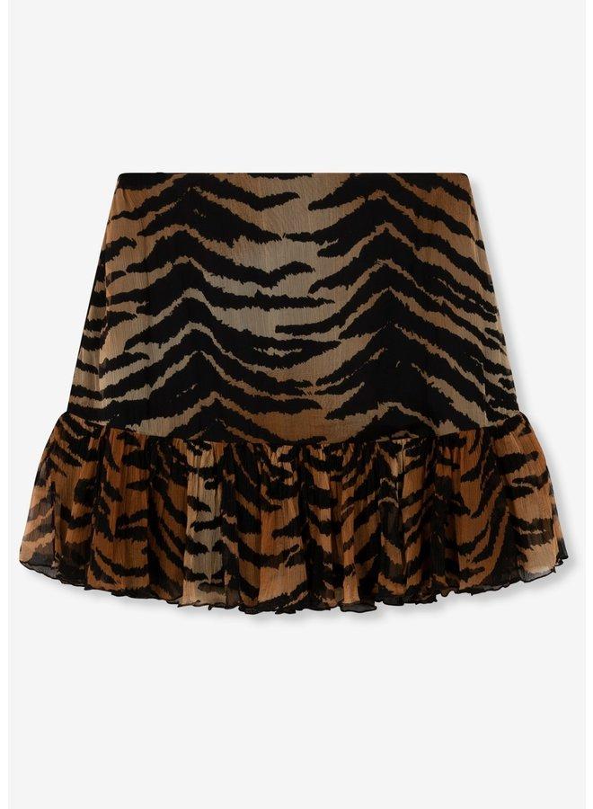 Rok ladies woven tiger crinkle chiffon skirt animal