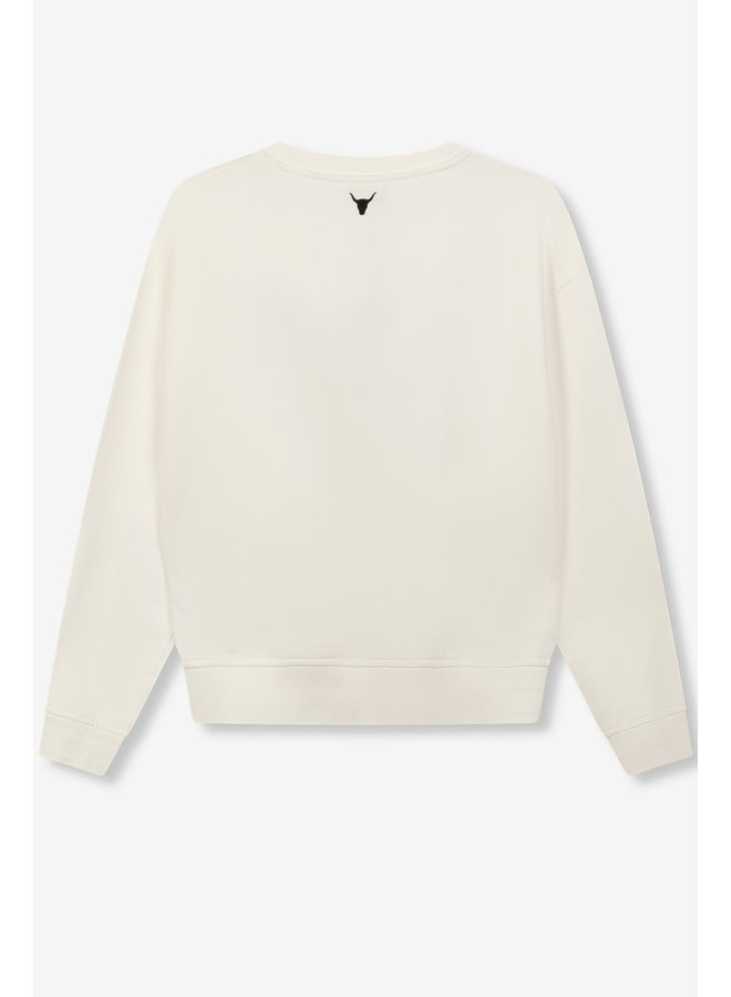 Trui ladies knitted photo sweater soft white