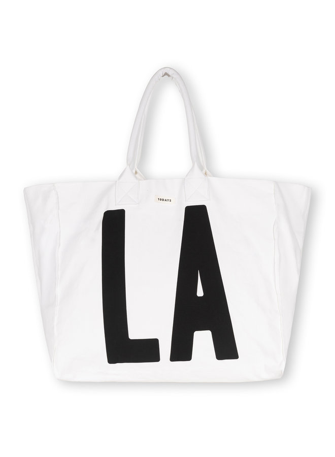 Tas canvas bag LA white