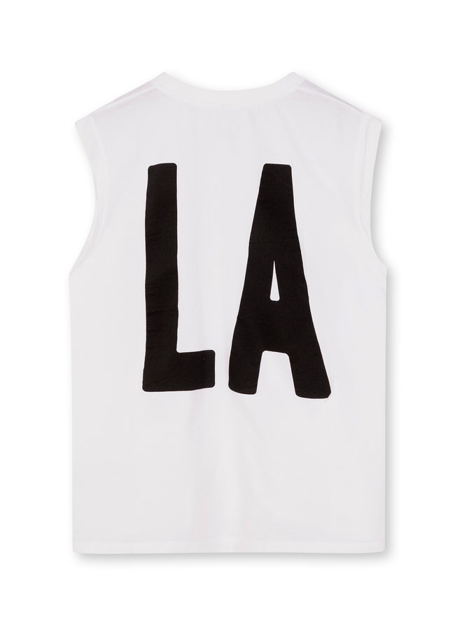 Top tee LA white