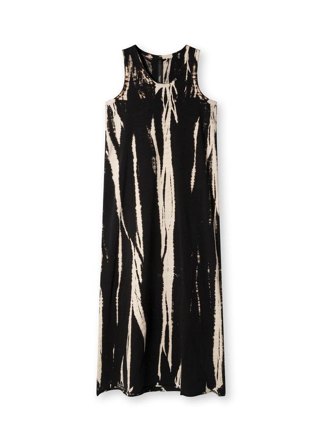 Jurk dress bamboo dye black