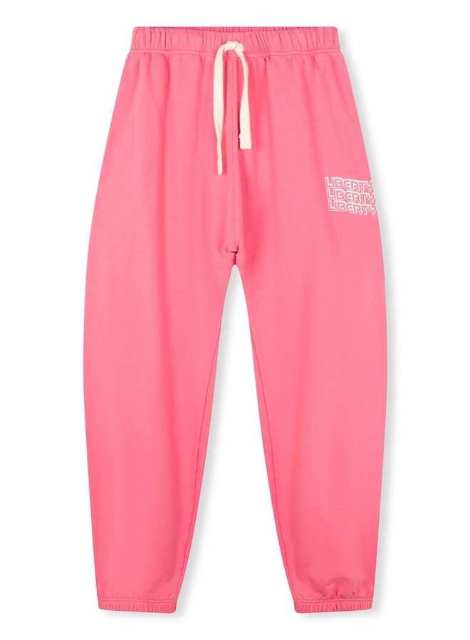 Broek oversized jogger liberty candy pink