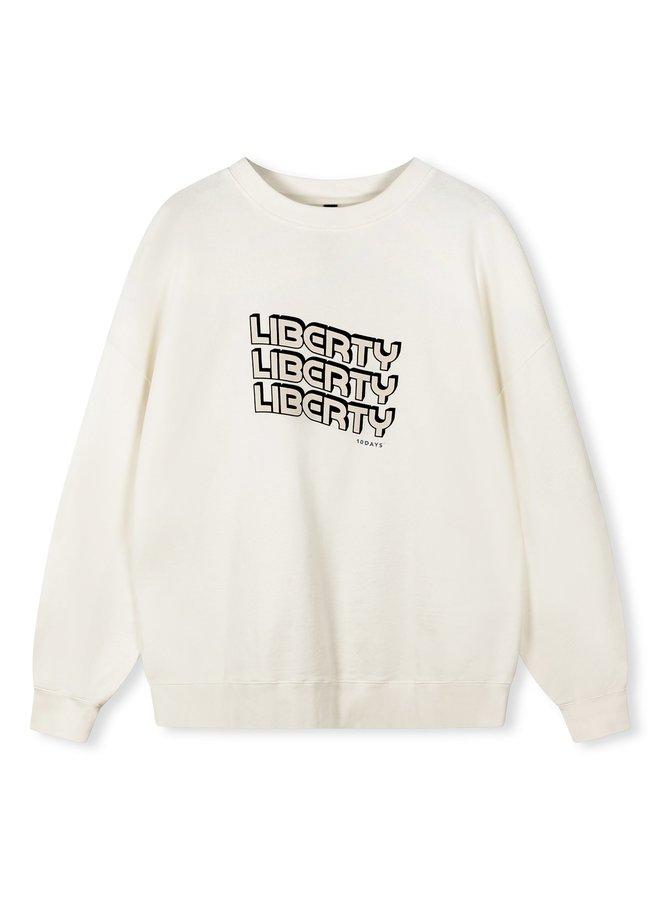 Trui liberty sweater ecru