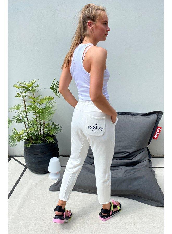 Broek statement jogger new white