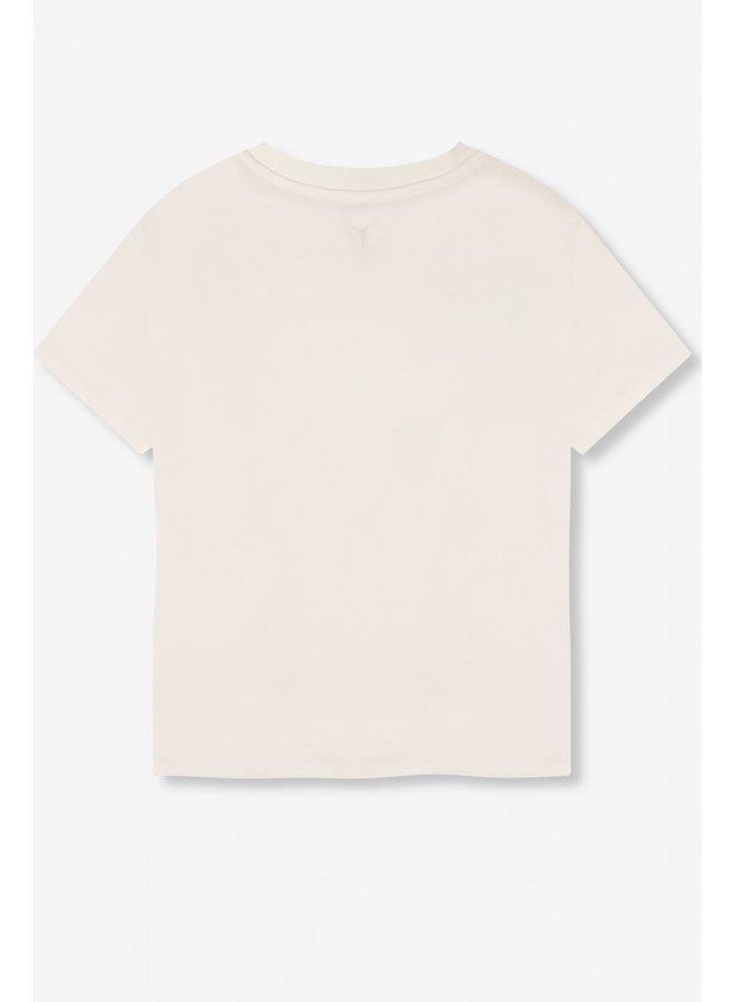 T-shirt ladies knitted ALIX tiger t-shirt soft white