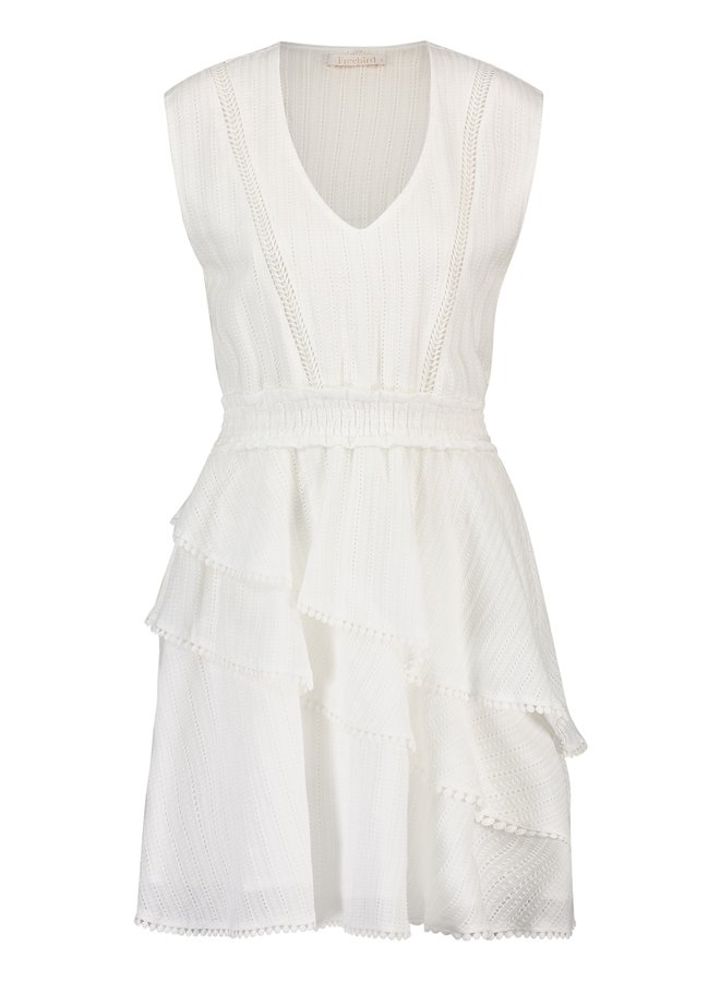 Jurk Kyona mini dress off white