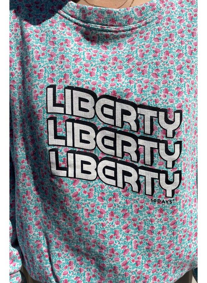 Trui liberty sweater floral ecru
