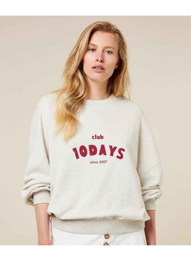 Trui seasonal sweater soft white melee