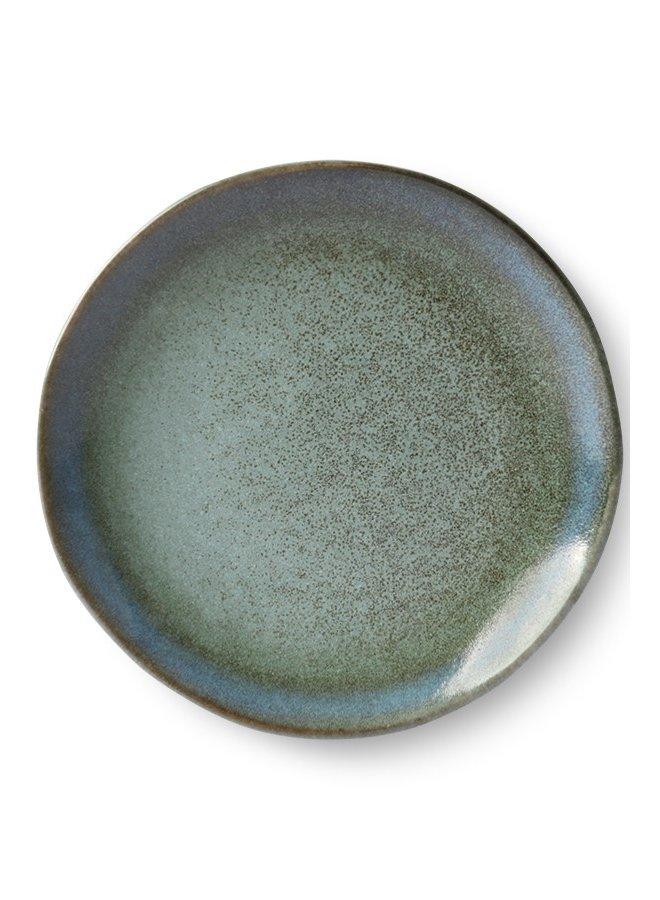 Bord ceramic dessert plate 70's moss (set of 2)