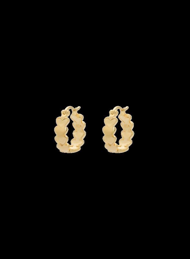 Oorbellen amor plain ring earrings goldplated goud