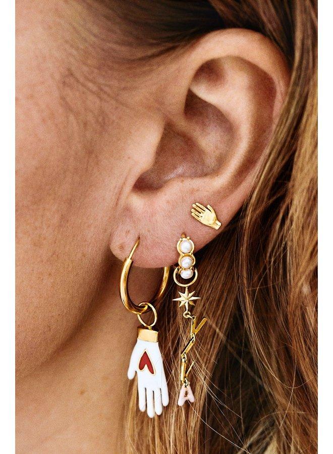 Oorbellen viva la vida earrings brass goldplated