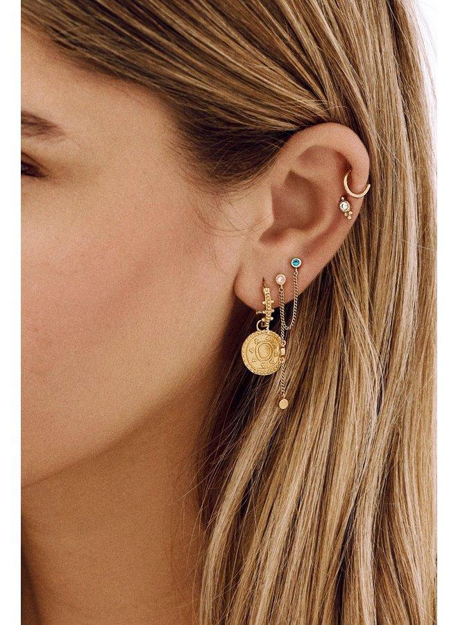 Oorbellen cleopatra ring earrings goldplated goud