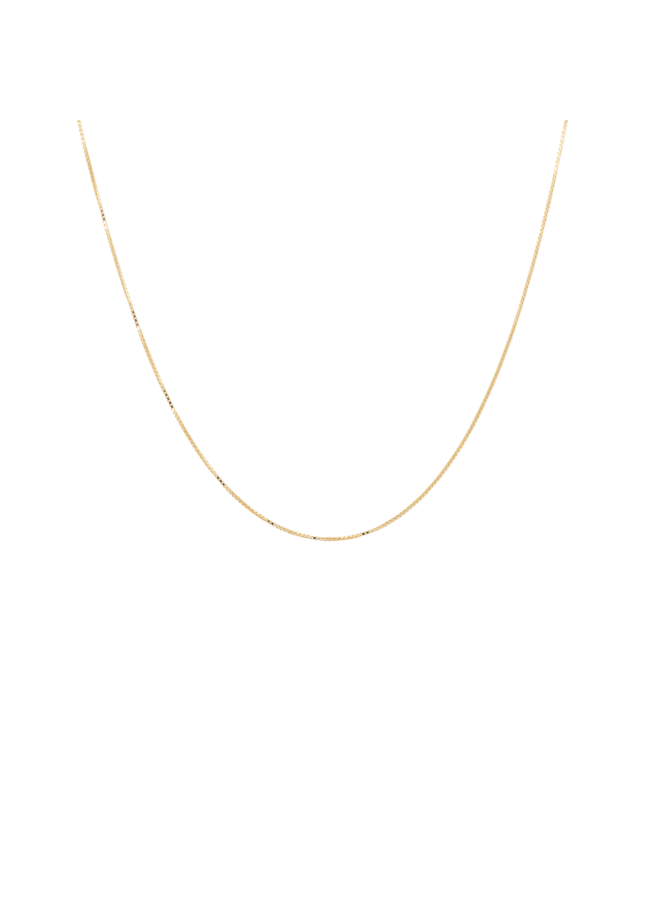 Ketting square plain necklace short goldplated goud