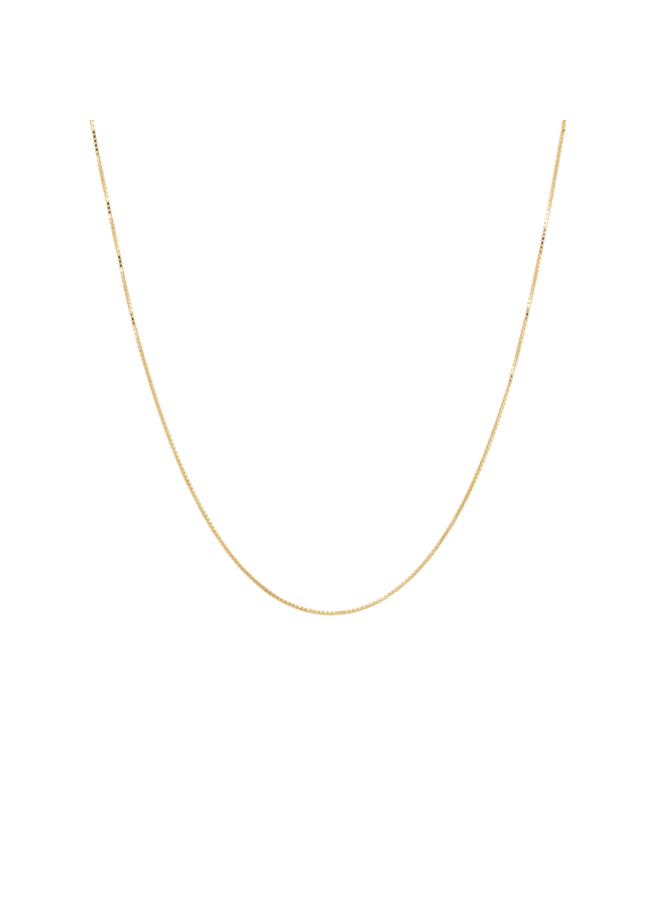 Ketting square plain necklace long goldplated goud