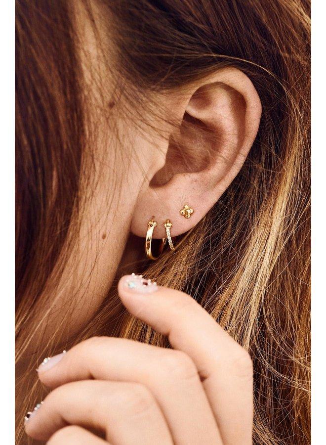 Oorbellen dazzling ring earrings goldplated goud