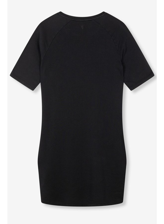 Jurk Ladies knitted Alix sweat dress black