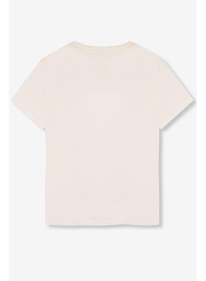 T-shirt ladies knitted Alix bull soft white