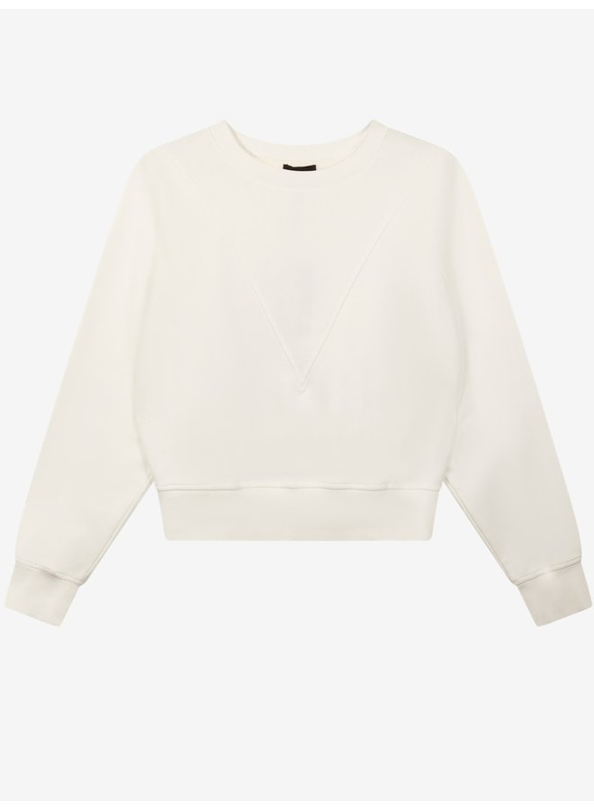 Sweater  ladies knitted sweater soft white