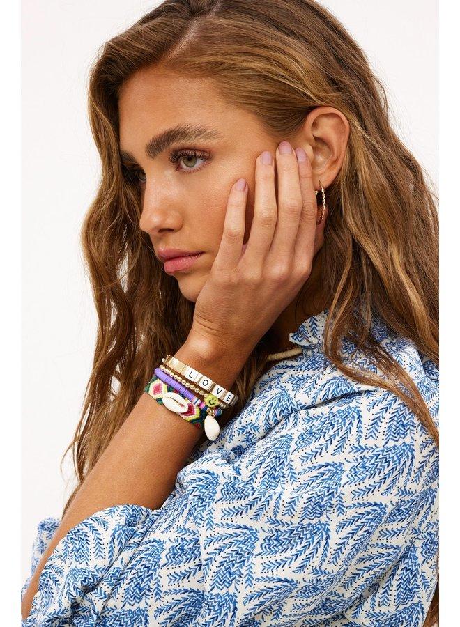 Armband Love island goud