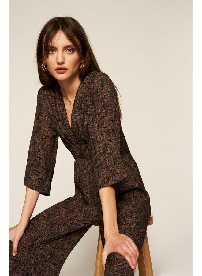 Jumpsuit Florine black brown