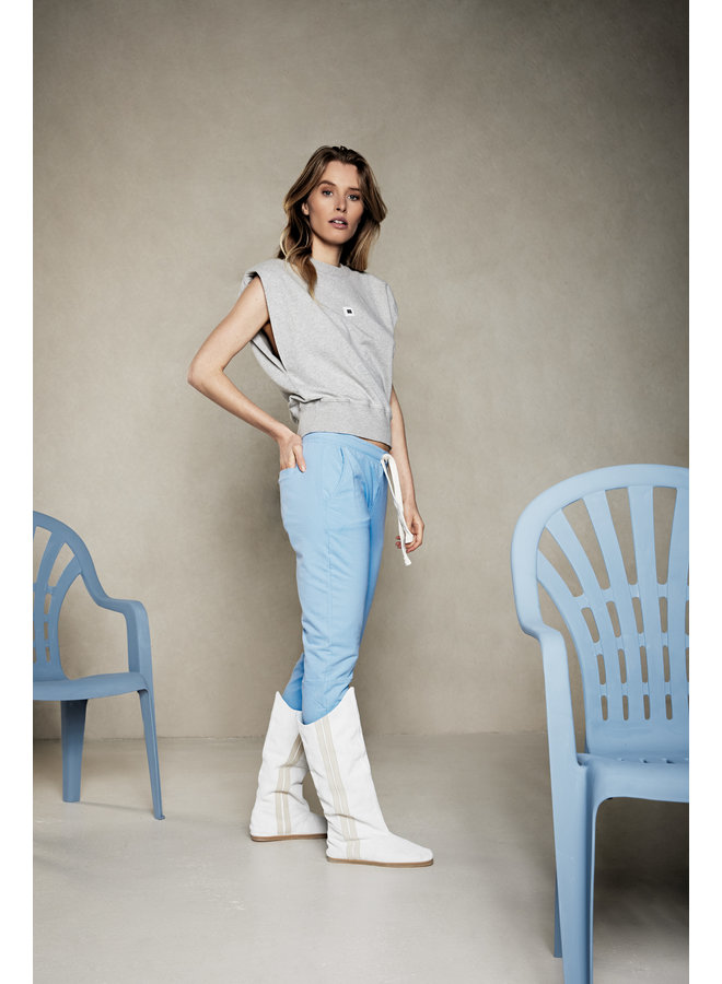 Broek Cropped jogger classic blue